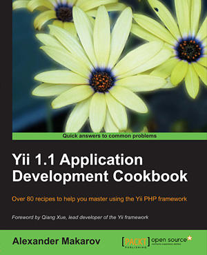 Yii 1.1 Application Development Cookbook Cover